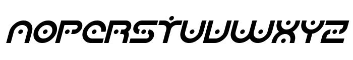 SF Planetary Orbiter Italic Font UPPERCASE