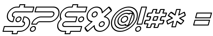SF Planetary Orbiter Outline Italic Font OTHER CHARS