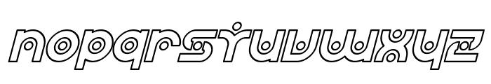 SF Planetary Orbiter Outline Italic Font LOWERCASE