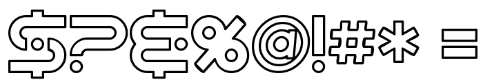 SF Planetary Orbiter Outline Font OTHER CHARS