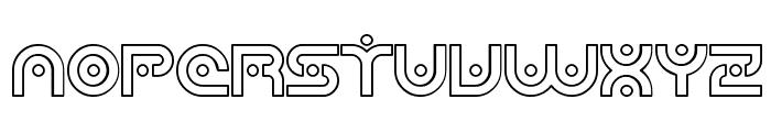 SF Planetary Orbiter Outline Font UPPERCASE