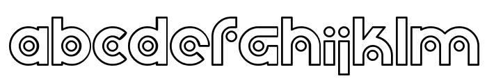 SF Planetary Orbiter Outline Font LOWERCASE