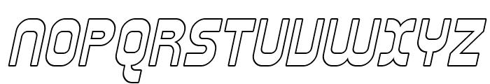 SF Plasmatica Outline Italic Font UPPERCASE