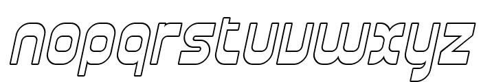 SF Plasmatica Outline Italic Font LOWERCASE