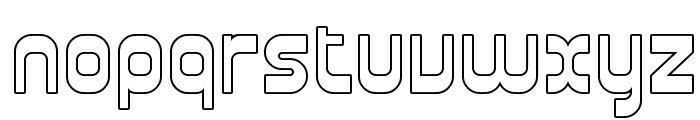 SF Plasmatica Outline Font LOWERCASE