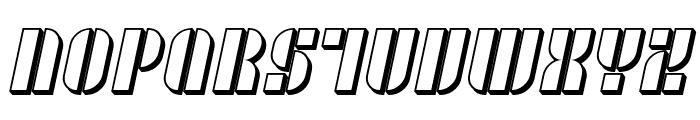 SF RetroSplice SC Shaded Font UPPERCASE