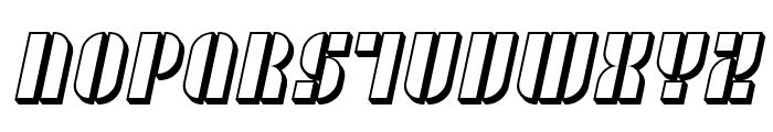 SF RetroSplice SC Shaded Font LOWERCASE