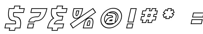 SF Retroesque Outline Oblique Font OTHER CHARS