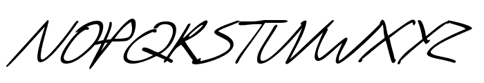 SF Scribbled Sans Italic Font UPPERCASE