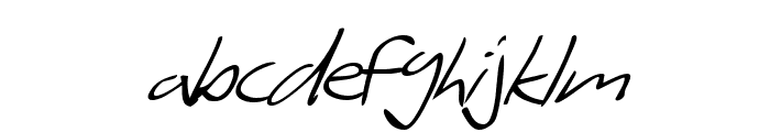 SF Scribbled Sans Italic Font LOWERCASE