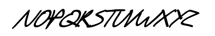 SF Scribbled Sans SC Bold Italic Font LOWERCASE