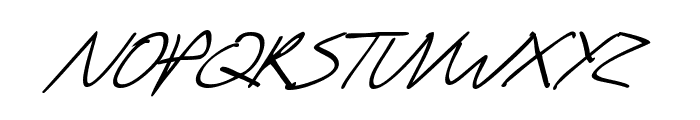 SF Scribbled Sans SC Italic Font LOWERCASE