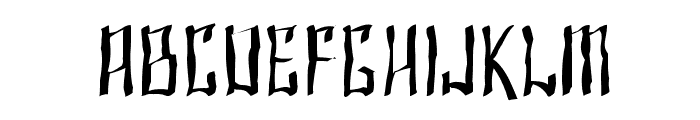 SF Shai Fontai Distressed Font LOWERCASE