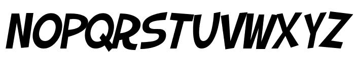 SF Slapstick Comic Oblique Font UPPERCASE