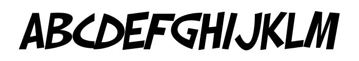 SF Slapstick Comic Oblique Font LOWERCASE