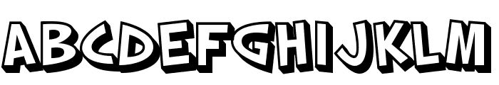 SF Slapstick Comic Shaded Font UPPERCASE