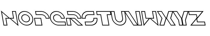 SF Solar Sailer Outline Italic Font UPPERCASE