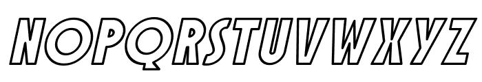 SF Speakeasy Outline Oblique Font UPPERCASE