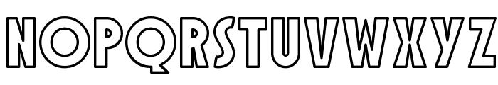SF Speakeasy Outline Font UPPERCASE