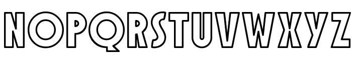 SF Speakeasy Outline Font LOWERCASE