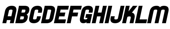 SF Speedwaystar Bold Oblique Font UPPERCASE