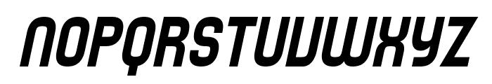 SF Speedwaystar Condensed Oblique Font UPPERCASE