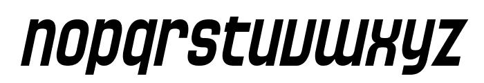 SF Speedwaystar Condensed Oblique Font LOWERCASE