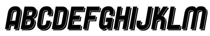 SF Speedwaystar Shaded Italic Font UPPERCASE