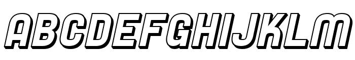 SF Speedwaystar Shaded Oblique Font UPPERCASE