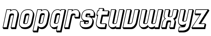 SF Speedwaystar Shaded Oblique Font LOWERCASE