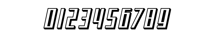 SF Square Root Shaded Oblique Font OTHER CHARS