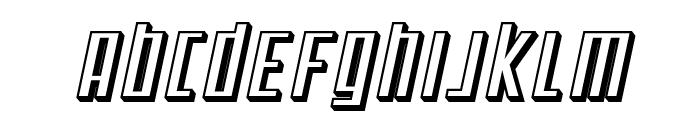 SF Square Root Shaded Oblique Font UPPERCASE