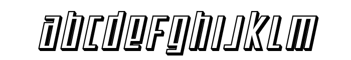 SF Square Root Shaded Oblique Font LOWERCASE