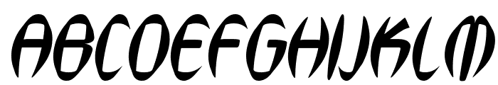 SF Synthonic Pop Oblique Font UPPERCASE