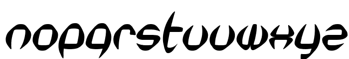 SF Synthonic Pop Oblique Font LOWERCASE