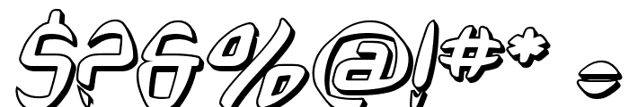 SF Synthonic Pop Shaded Oblique Font OTHER CHARS