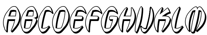 SF Synthonic Pop Shaded Oblique Font UPPERCASE
