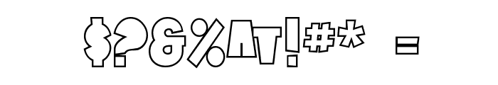 SF Tattle Tales Outline Font OTHER CHARS