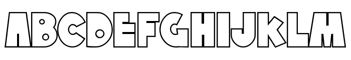 SF Tattle Tales Outline Font LOWERCASE