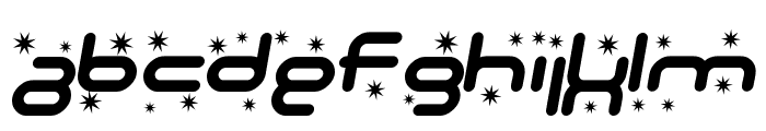 SF Technodelight Bold Italic Font LOWERCASE