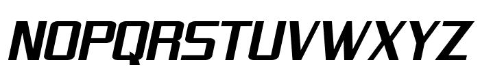 SF Theramin Gothic Bold Oblique Font UPPERCASE