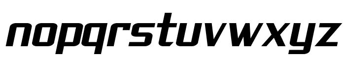 SF Theramin Gothic Bold Oblique Font LOWERCASE