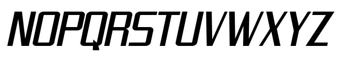 SF Theramin Gothic Condensed Oblique Font UPPERCASE