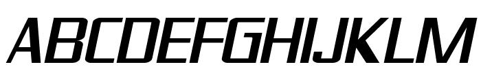 SF Theramin Gothic Oblique Font UPPERCASE