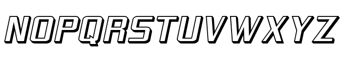 SF Theramin Gothic Shaded Oblique Font UPPERCASE