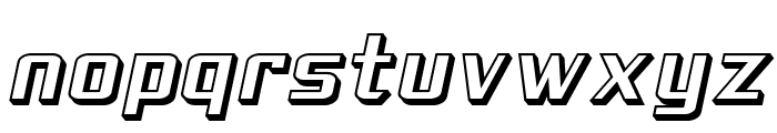 SF Theramin Gothic Shaded Oblique Font LOWERCASE