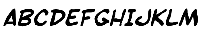 SF Toontime Blotch Bold Italic Font UPPERCASE