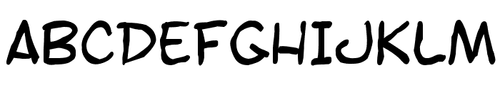 SF Toontime Blotch Font UPPERCASE