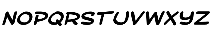 SF Toontime Extended Bold Italic Font UPPERCASE