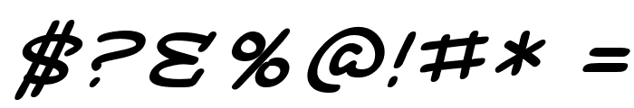 SF Toontime Extended Italic Font OTHER CHARS